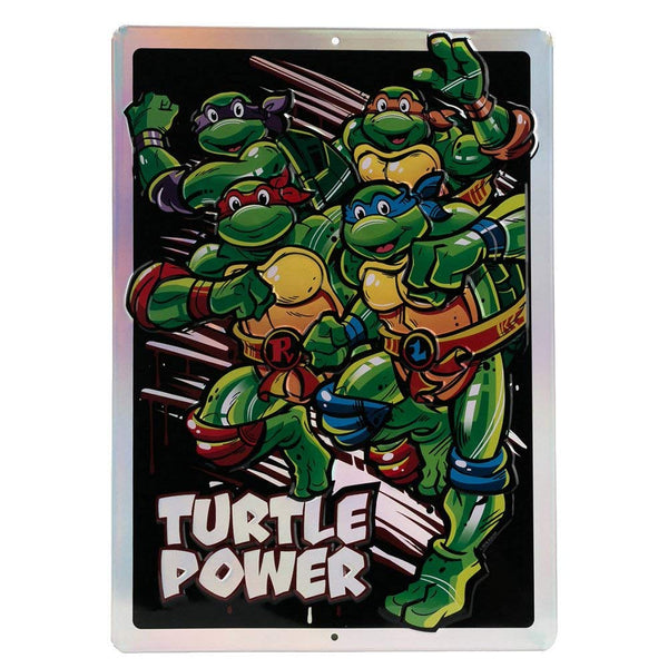 Open Road Brands Teenage Mutant Ninja Turtles Embossed Metal Sign