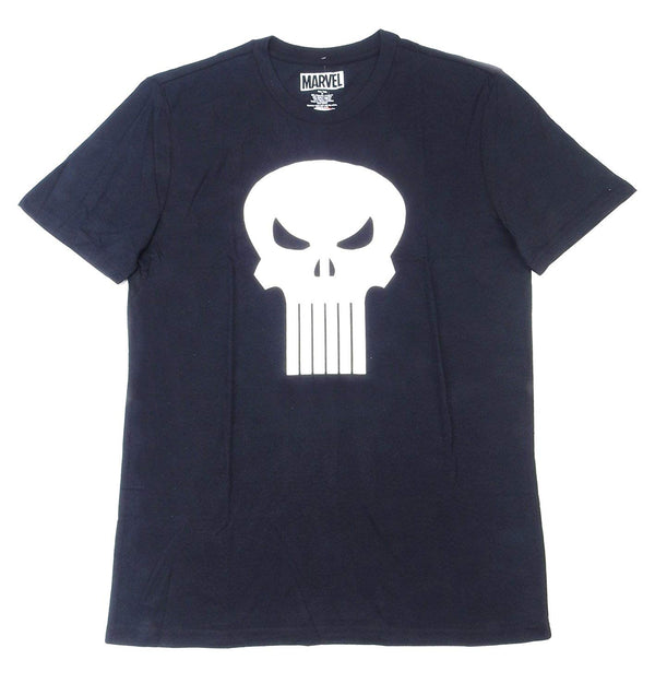 Marvel Mens Punisher Graphic T-Shirt, Black/White