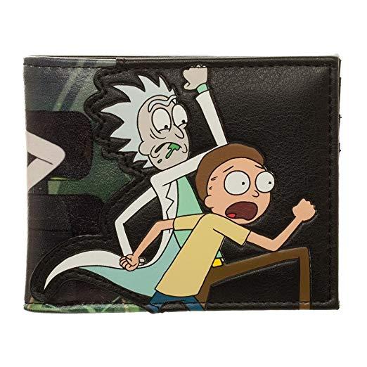 Rick and Morty PU Faux Leather Bifold Wallet - Kryptonite Character Store