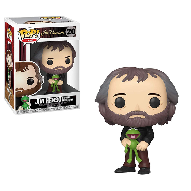 The Muppet Show - Jim Henson w/ Kermit Pop Icons Vinyl Figure - Kryptonite Character Store
