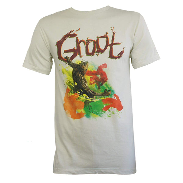 Marvel Movie Guardians of The Galaxy Groot Punch T-Shirt S-3XL New