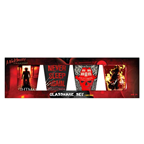Warner Brothers Nightmare on Elm Street Colored Mini Glass Boxed Set
