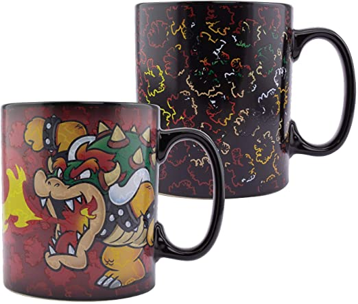 Bowser Heat Change Mug 550ml (18.5floz)