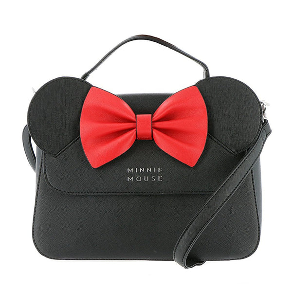 Disney Minnie Mouse Crossbody Bag with Ears and Bow