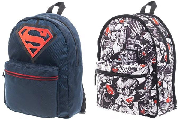 DC COMICS SUPERMAN REVERSIBLE FLIP PAK BACKPACK BIOWORLD