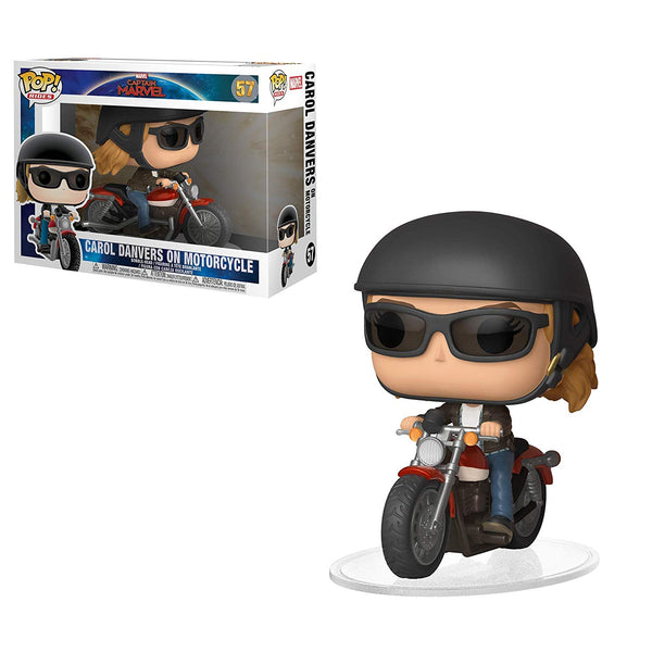 Funko Captain Marvel - Carol Danvers on Motorcycle Pop Ride , Captain marvel motorcycle pop