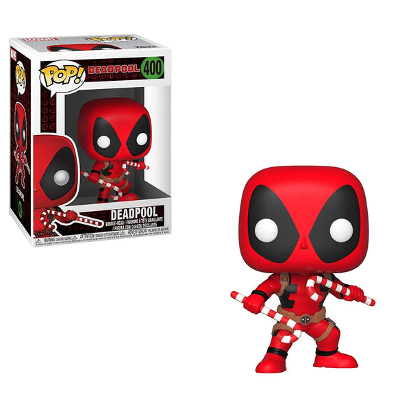 Marvel Holiday Deadpool w/Candy Canes Funko Pop Vinyl Figure