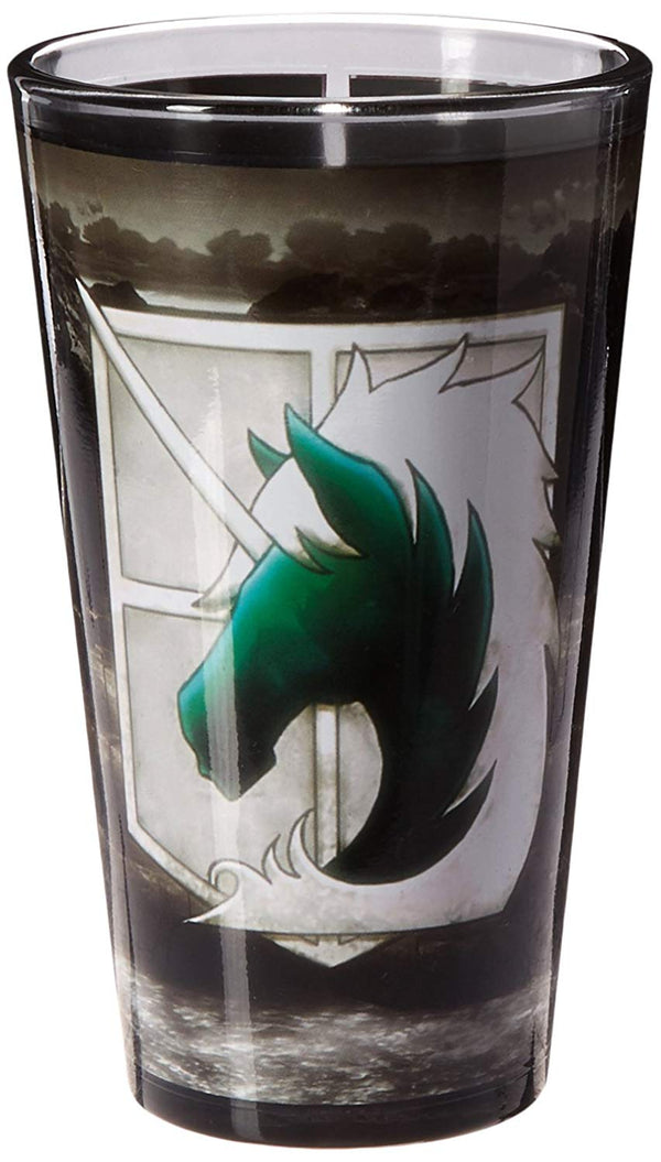 ATTACK ON TITAN GLS-AOT-BDGBP Print Pint Glass - Kryptonite Character Store