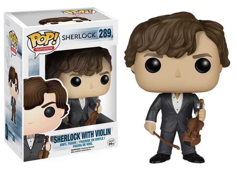 Funko POP TV: Sherlock - Sherlock Holmes with Violin Action Figure - Kryptonite Character Store