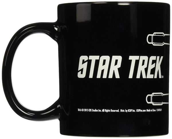 ICUP Star Trek Enterprise Line Art Ceramic Mug, 20 oz, Clear