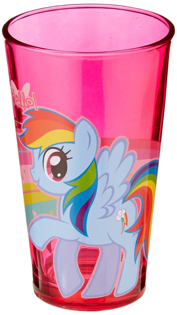 Silver Buffalo Hasbro My Little Pony Rainbow Dash Pint Glass, 16-Ounces