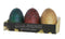 "Game of Thrones Sculpted Dragon Egg Candles, Set of 3 - 2 1/2"" each"