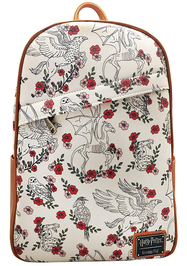 Harry Potter Creatures Floral Mini Backpack