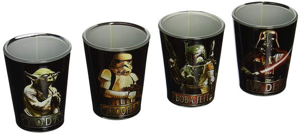 Star Wars Characters Mini Glass Set 4-Pack - Kryptonite Character Store
