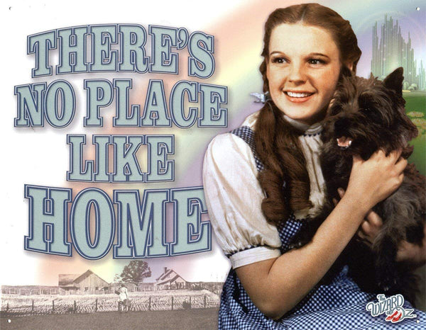 "Wizard of Oz ""No Place Like Home"" Metal Sign - Kryptonite Character Store"