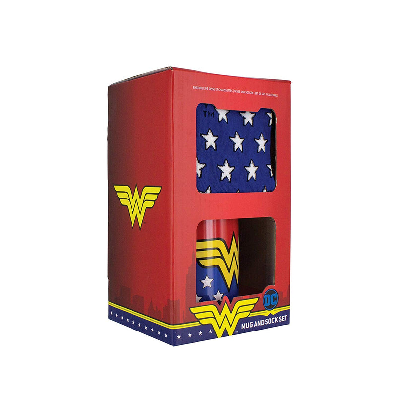Wonder Woman Mug & Sock Set- Officially Licensed DC Comics Product