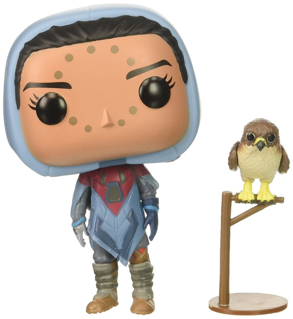 Funko Pop Games: Destiny-Hawthorne with Hawk Collectible Figure, Multicolor - Kryptonite Character Store