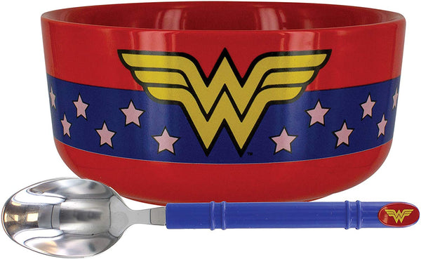 Wonder Woman Breakfast Set - Bowl and Spoon Set - Kryptonite Character Store