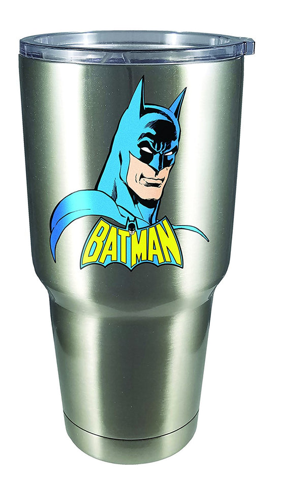 DC Comics - Batman - Large Stainless Steel Mug, Silver - Kryptonite Character Store