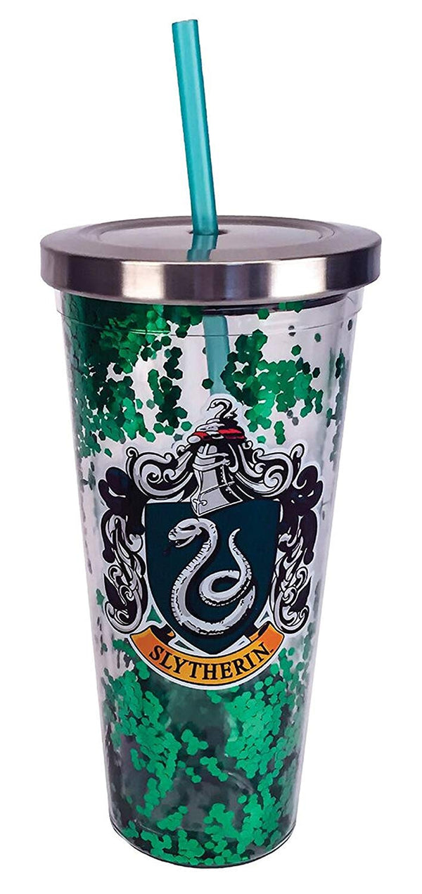 Harry Potter - Slytherin - Green Glitter 20 oz Acrylic Double Walled Tumbler Cup