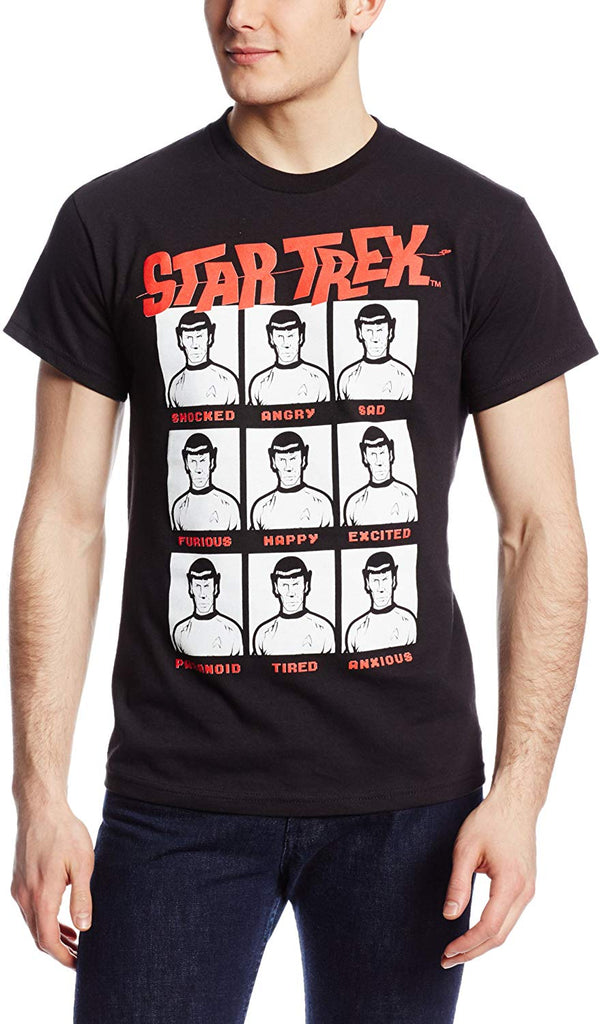Star Trek Moods of Spock Graphic T-Shirt - Kryptonite Character Store