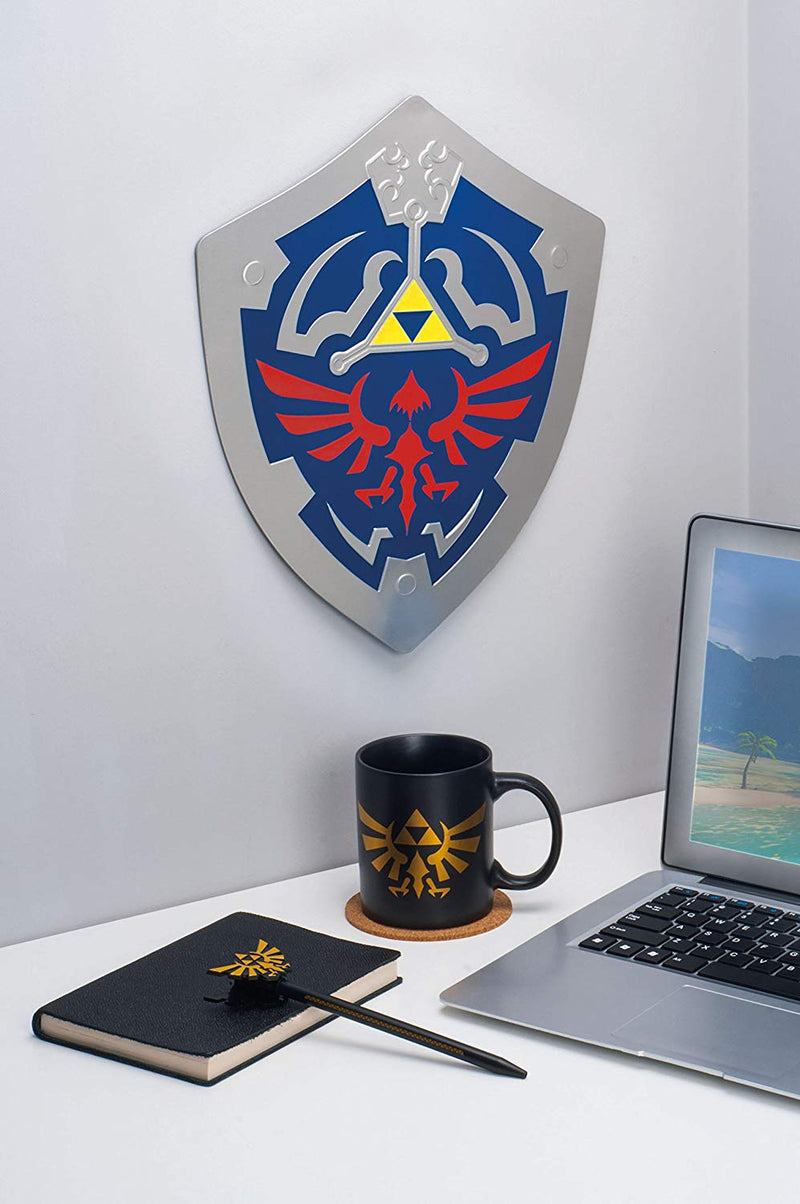 Glow in The Dark Hylian Shield Metal Wall Art - Kryptonite Character Store