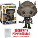 Funko Pop! Marvel: Black Panther - Masked Erik Killmonger Limited Edition CHASE variant Vinyl Figure (Bundled with Pop BOX PROTECTOR CASE) - Kryptonite Character Store