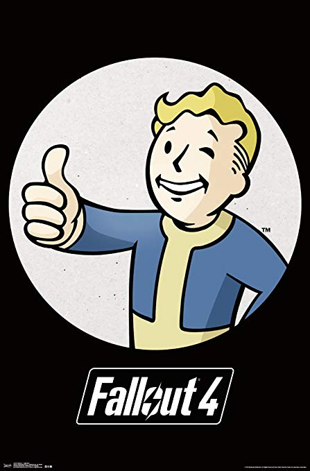 Fallout 4 -Vault Boy Poster - Kryptonite Character Store