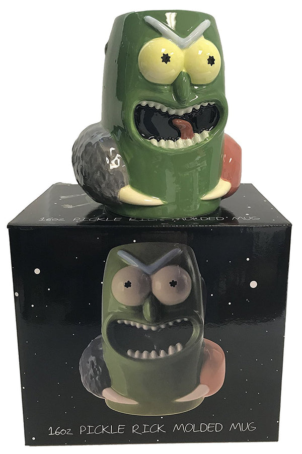 Rick and Morty Pickle Rick 16oz. Figure Mug