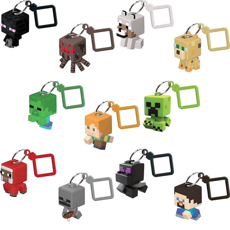 Minecraft Bobble Mobs Key Chain Blind Box (One Mystery Figure)