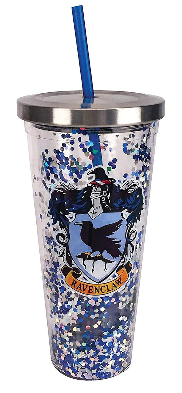 Harry Potter Ravenclaw Blue Glitter 20 oz Acrylic Double Walled Tumbler Cup