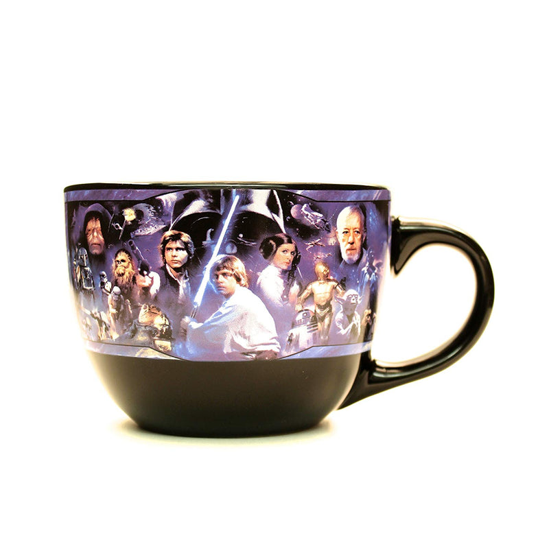 Star Wars Episode 4 Collage Ceramic Soup Mug, 24-Ounces