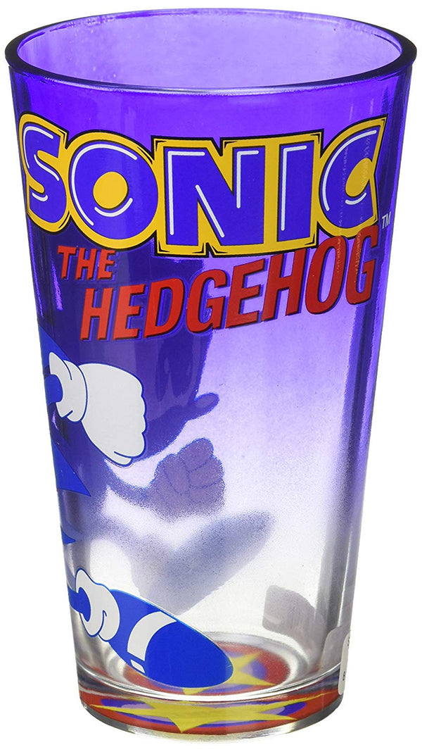 JUST FUNKY Sonic The Hedgehog Blue Pint Glass,16oz