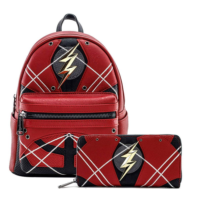 DC Flash Mini Backpack and Wallet Set by Loungefly (Multi) - Kryptonite Character Store