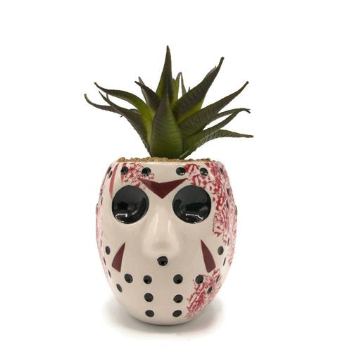 Friday the 13th Jason Mask Ceramic Planter