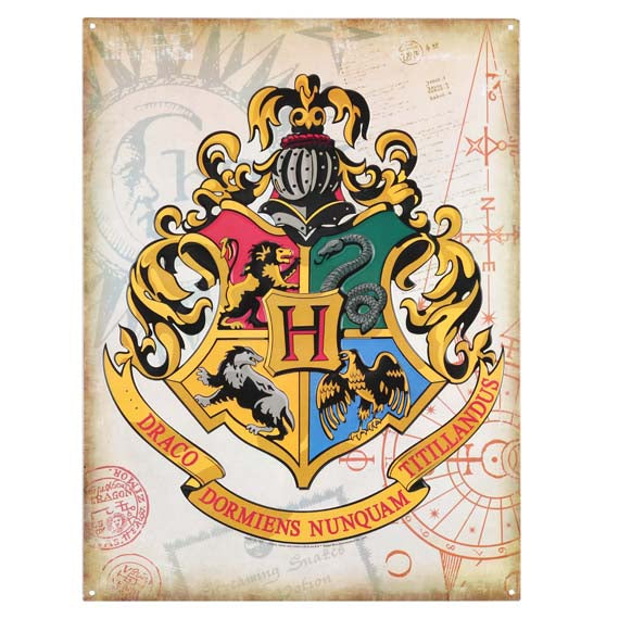 Harry Potter Hogwarts Crest Metal Wall Art