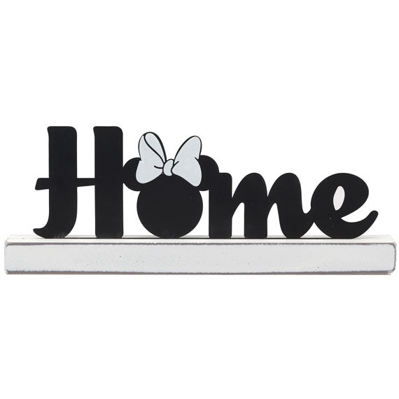 Home Minnie Mouse Metal Décor on Wood Base