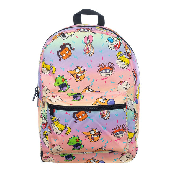 Nickelodeon 90's NickToons Rainbow All Of Printed Backpack - Kryptonite Character Store