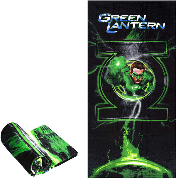 "Green Lantern Beach Towel 60"" x 30"" - Kryptonite Character Store"