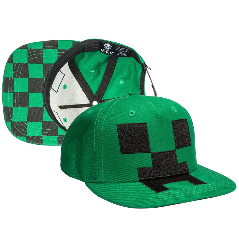 Minecraft Creeper Mob Snapback Baseball Hat - Kryptonite Character Store