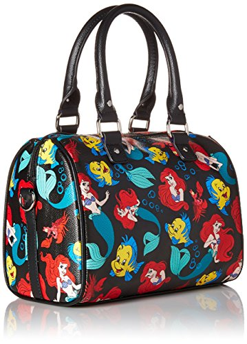 Disney Little Mermaid Classic Print Pebble Crossbody Satchel Bag - Kryptonite Character Store