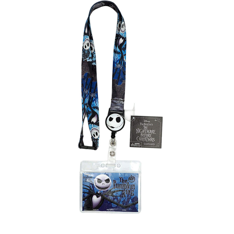 The Nightmare Before Christmas Jack Lanyard with Retractable Card Holder