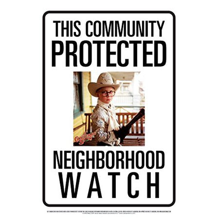 Community Watch a Christmas Story Ralphie Tin Sign 8 x 11.5