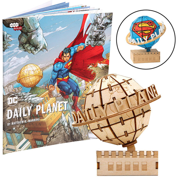 DC Comics Superman Daily Planet Book and 3D Wood Model Kit
