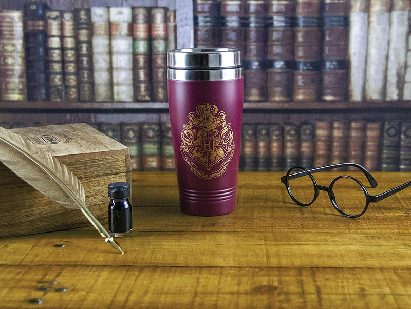 Paladone Harry Potter Hogwarts Travel Mug - Commuter Coffee Cup