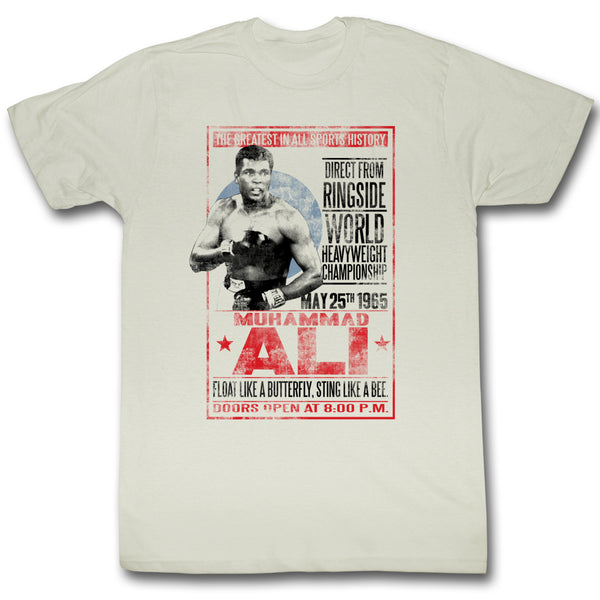 Muhammad Ali T-Shirt May 25th 1965 Poster Natural Tee