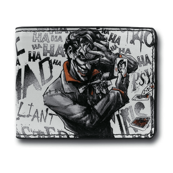Joker brilliant-twisted-insane-mad psycho pose Men's Wallet  - Kryptonite Character Store