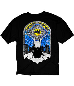 Batman Men's Stained Glass Tee Shirt- Kryptonite Character Store