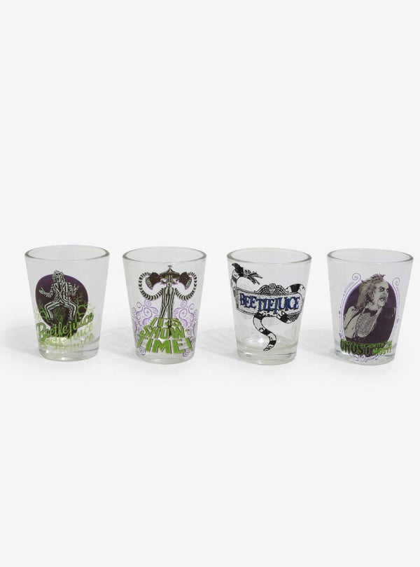 Beetlejuice Showtime Set 4pc. 1.5oz Mini Glass Set