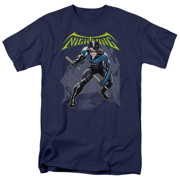Batman Nightwing Action Pose Adult Fitted T-Shirt
